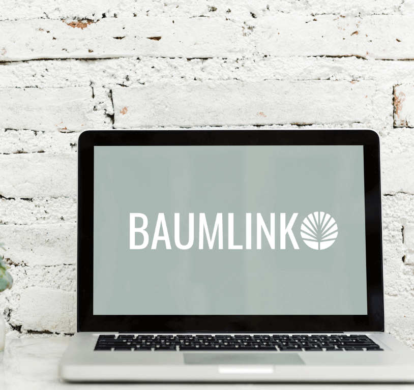 Laptop with Baumlink background